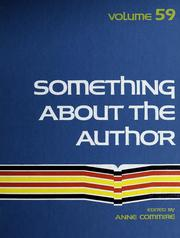 Something about the Author, Vol. 59 book written by Anne Commrie