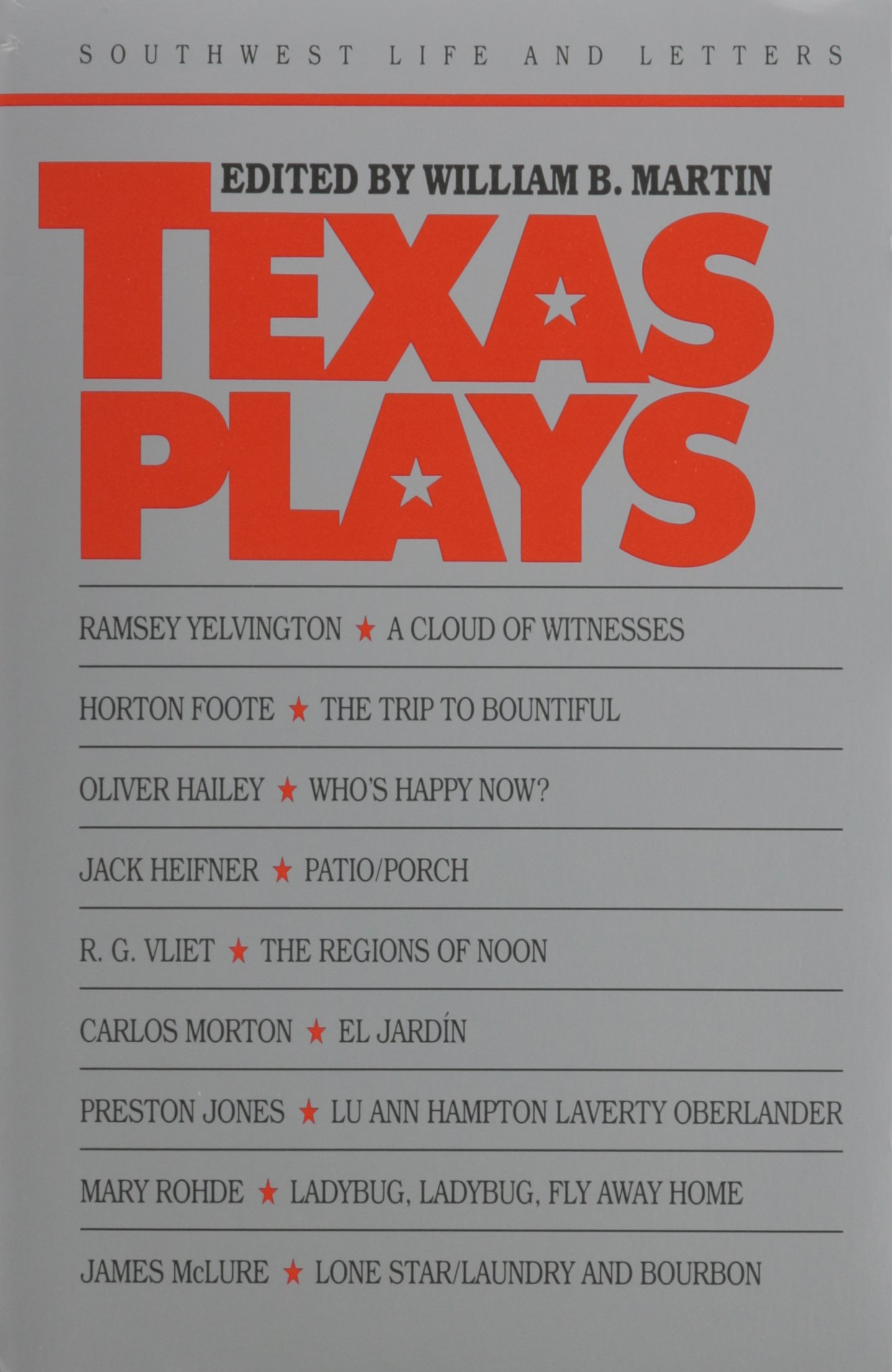 Texas Plays written by William B. Martin