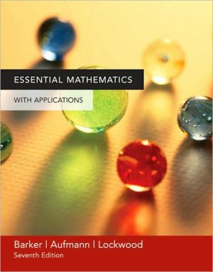 Essential Mathematics With Applications written by Vernon C. Barker