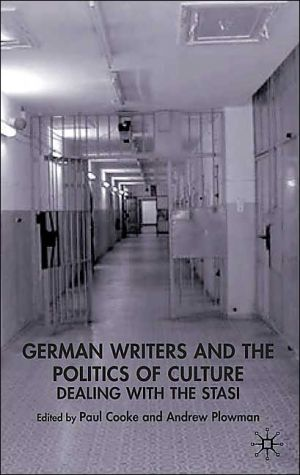 German Writers & The Politics Of Culture book written by Paul Cooke