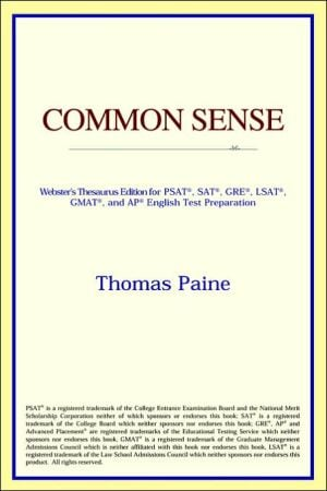 Common Sense book written by ICON Reference
