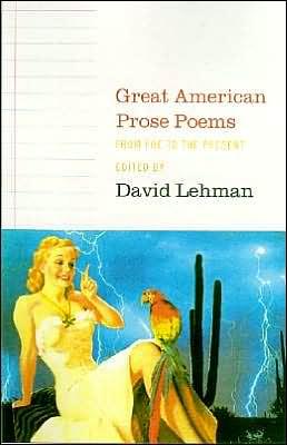 Great American Prose Poems book written by David Lehman