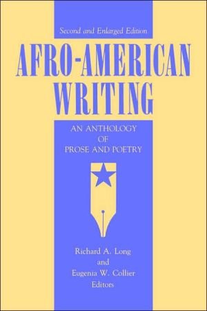 Afro-American Writing written by Richard A. Long