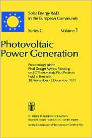 Photovoltaic Power Generation Series C Volume 1 book written by W. Palz