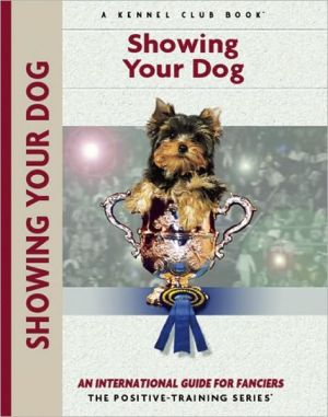 Showing Your Dog book written by Juliette Cunliffe