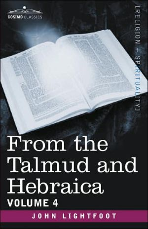 From the Talmud and Hebraica book written by John Lightfoot