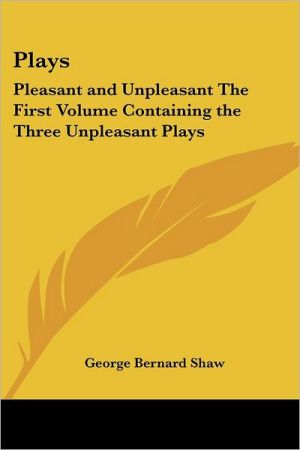 Plays book written by George Bernard Shaw
