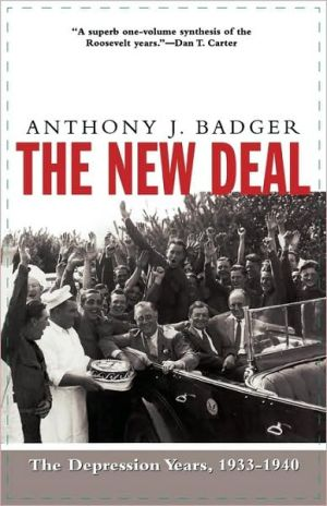 New Deal book written by Anthony J. Badger