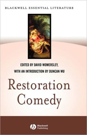 Restoration Comedy written by Womersley