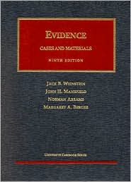 Evidence book written by Jack B. Weinstein