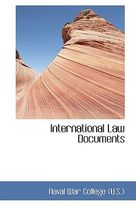 International Law Documents book written by Naval War College (U.S.)