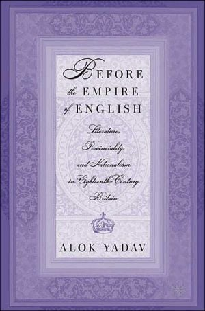Before The Empire Of English book written by Alok Yadav