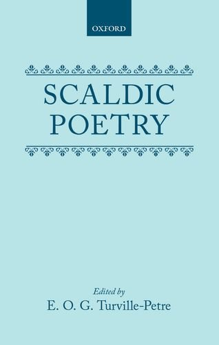 Scaldic poetry book written by E. O. G. Turville-Petre