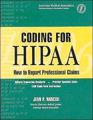 Coding for HIPAA book written by Jean Narcisi