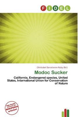 Modoc Sucker written by Christabel Donatienne Ruby