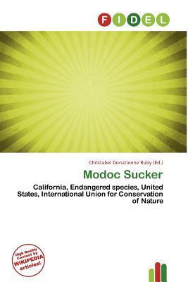 Modoc Sucker written by Christabel Donatienne Ruby