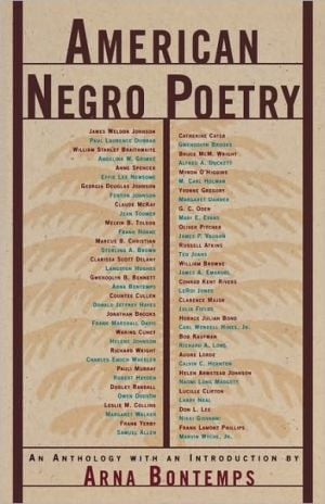 American Negro Poetry written by Arna Bontemps