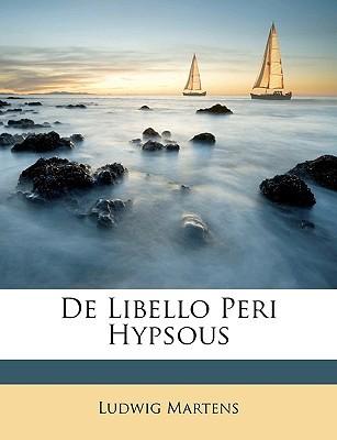 de Libello Peri Hypsous book written by Martens, Ludwig