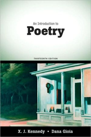 An Introduction to Poetry book written by X. J. Kennedy