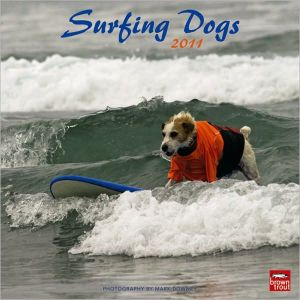 2011 Surfing Dogs Square Wall Calendar book written by BrownTrout Publishers