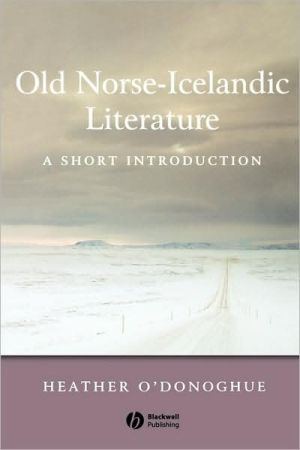 Old Norse Short Intro book written by O'Donoghue