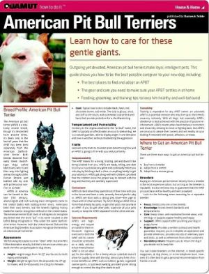 American Pit Bull Terrier (Quamut) book written by Quamut
