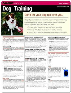 Dog Training (Quamut) book written by Quamut