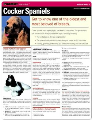 Cocker Spaniel (Quamut) book written by Quamut