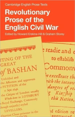 Revolutionary Prose of the English Civil War written by Howard Erskine-Hill