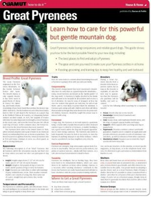 Great Pyrenees (Quamut) book written by Quamut