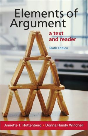 Elements of Argument 10e book written by Rottenberg, Annette T. , Winchell, Donna Haisty