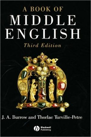 A Book Of Middle English 3e C written by Burrow