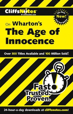 Cliffsnotes Age Of Innocence book written by Van Kirk