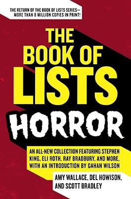 Book of Lists: Horror book written by Amy Wallace