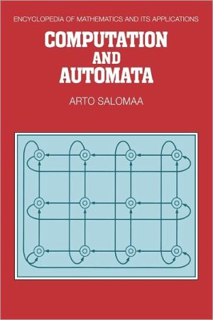Computation and Automata book written by Arto Salomaa