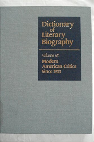 Modern American Critics since 1955, Vol. 67 book written by Gregory Jay