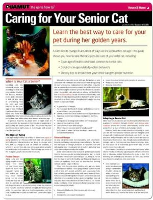 Caring for Your Senior Cat (Quamut) book written by Quamut