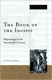 The book of the incipit book written by D. Vance Smith