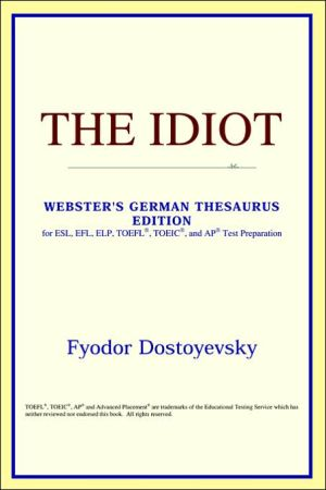 The Idiot book written by ICON Reference