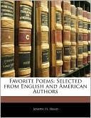 Favorite Poems written by Joseph H. Head