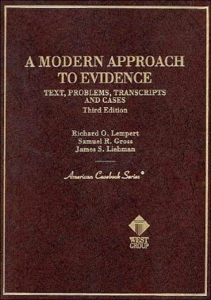 A Modern Approach to Evidence book written by Richard O. Lempert
