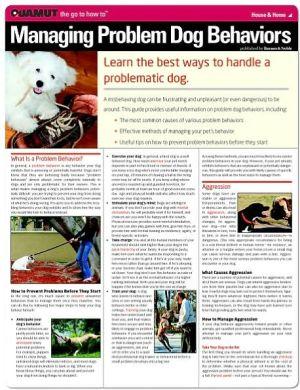 Managing Problem Dog Behaviors (Quamut) book written by Quamut