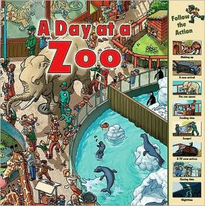 A Day at a Zoo book written by Sarah Harrison