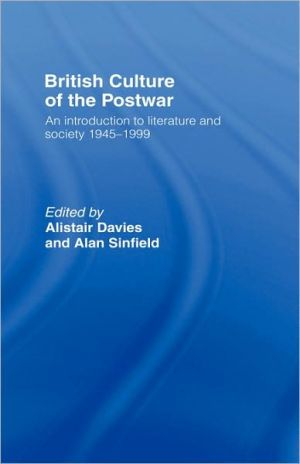 British Culture of the Postwar book written by Alistair Davies