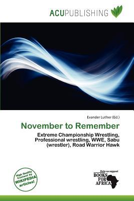 November to Remember written by Evander Luther