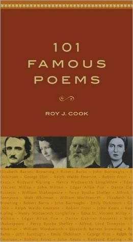 101 Famous Poems book written by Roy J. Cook