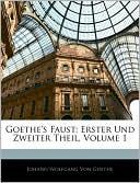 Goethe's Faust book written by Johann Wolfgang von Goethe