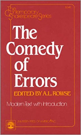 COMEDY OF ERRORS book written by William Shakespeare
