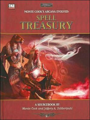 D20 Arcana Evolved Spell Treasury book written by Malhavoc