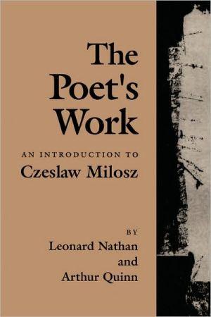 Poet's Work book written by Leonard Nathan